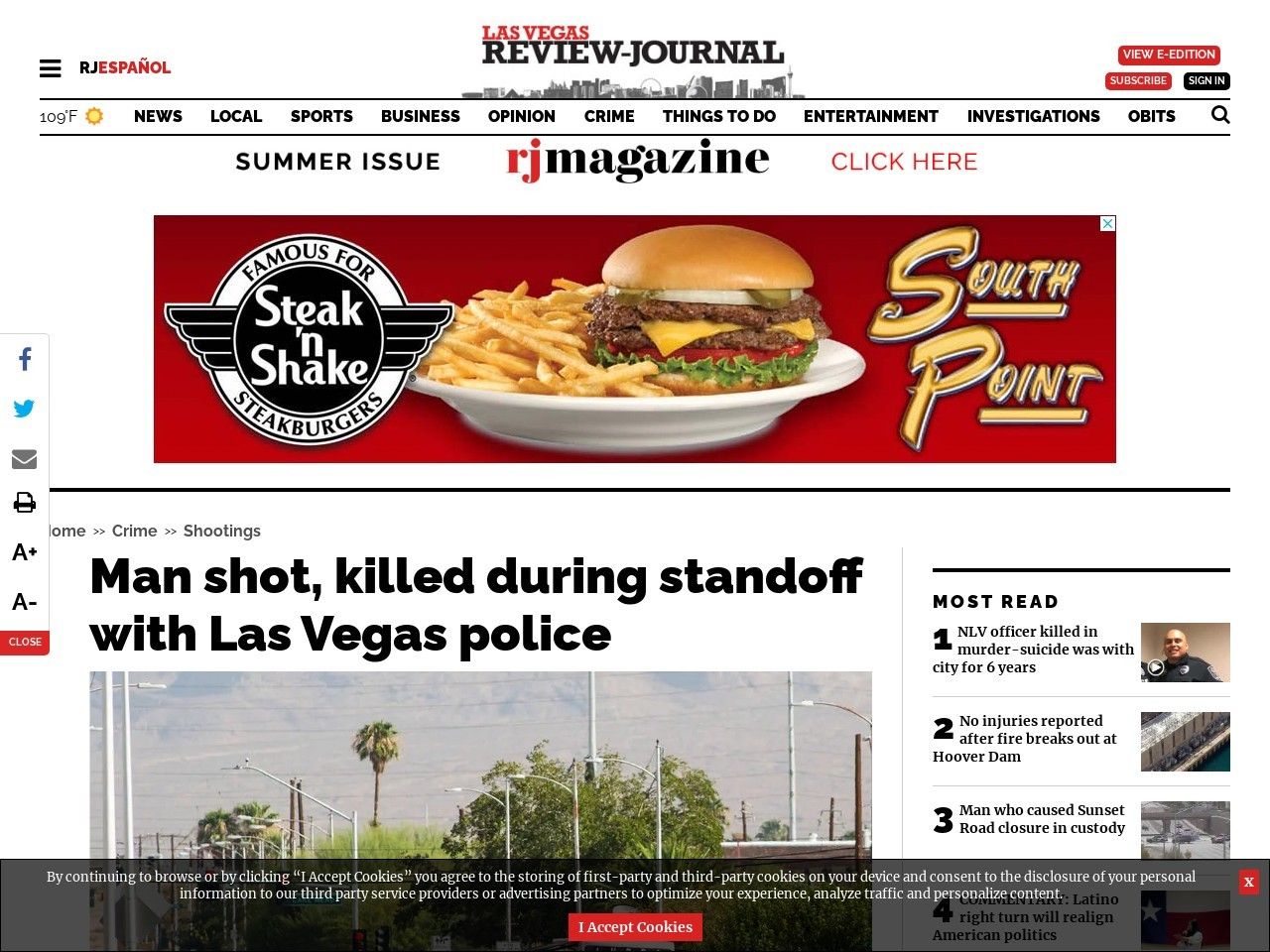 Las Vegas police investigating 2nd officer-involved shooting in 24 hours