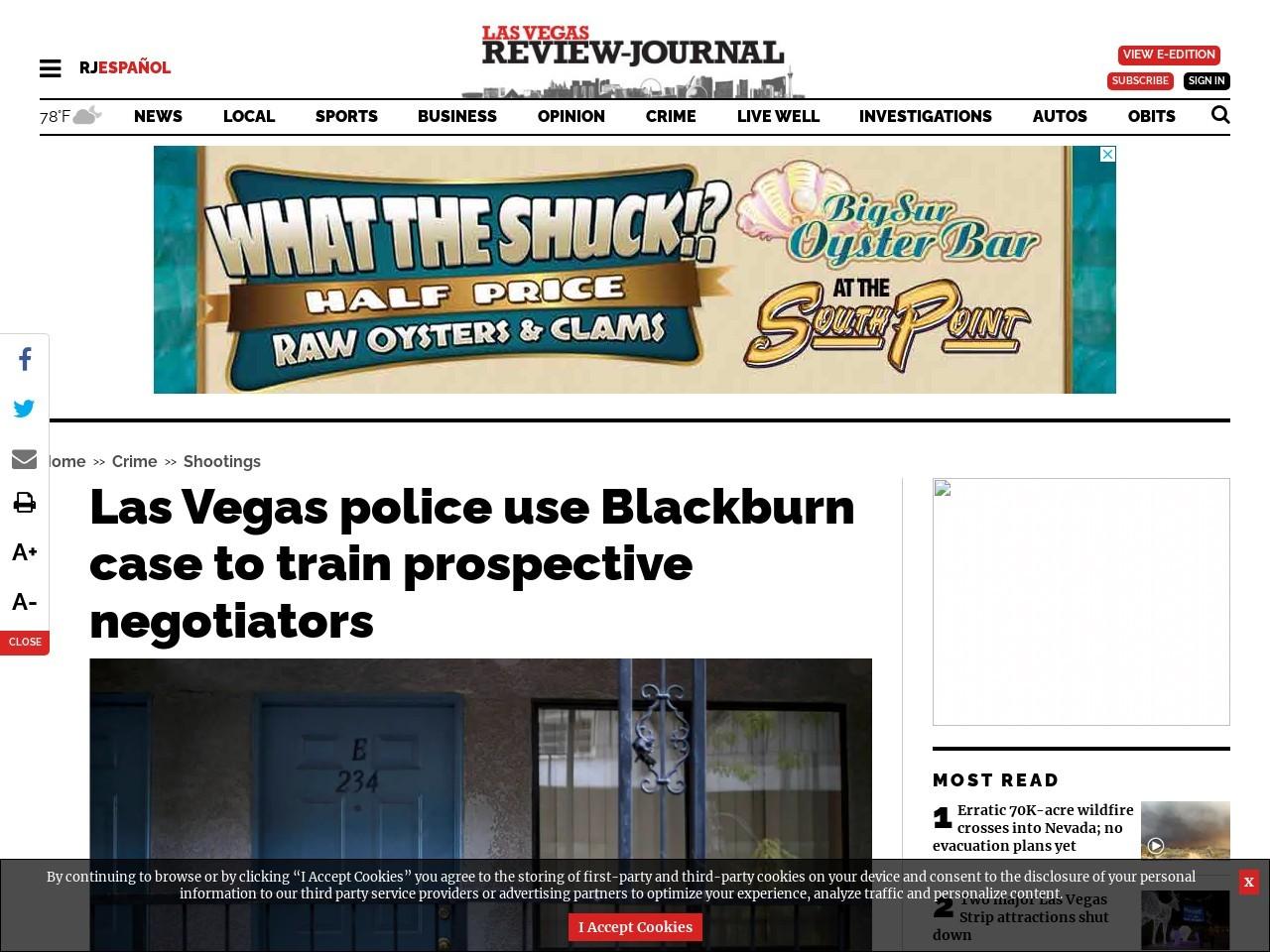 Las Vegas police use Blackburn case to train prospective negotiators