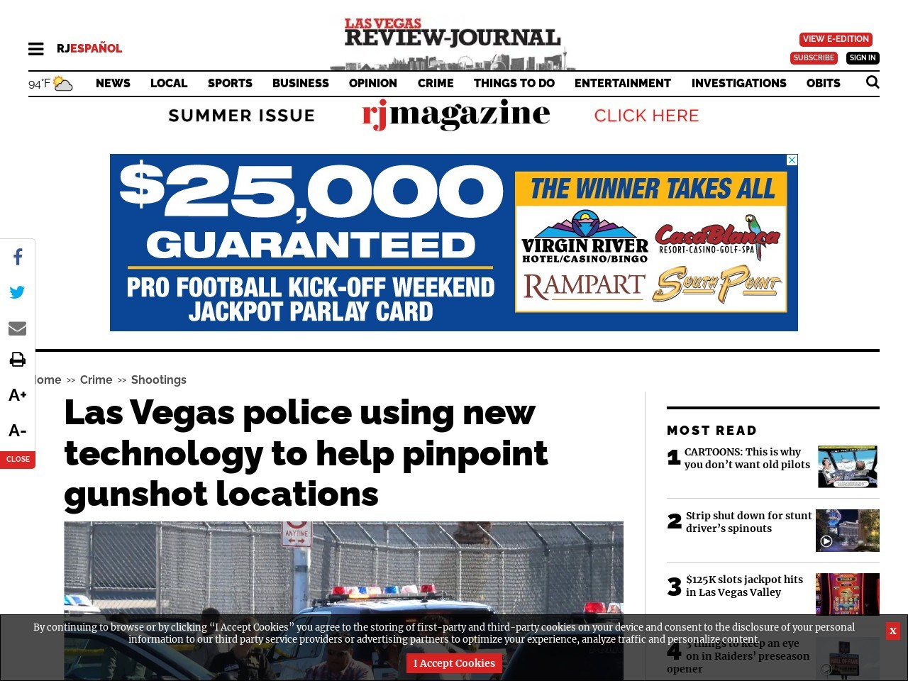 Las Vegas police using new technology to help pinpoint gunshot locations
