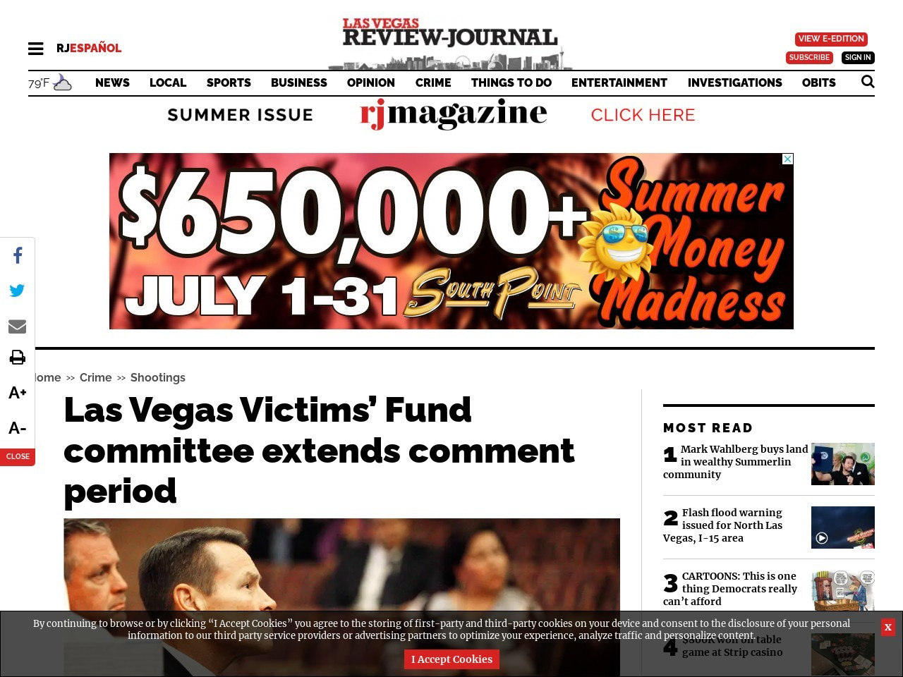 Las Vegas Victims' Fund committee extends comment period