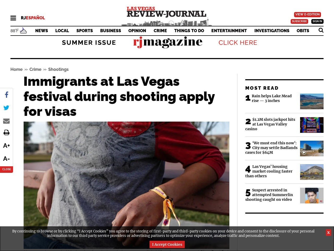 Path to citizenship may open for immigrants at Las Vegas shooting