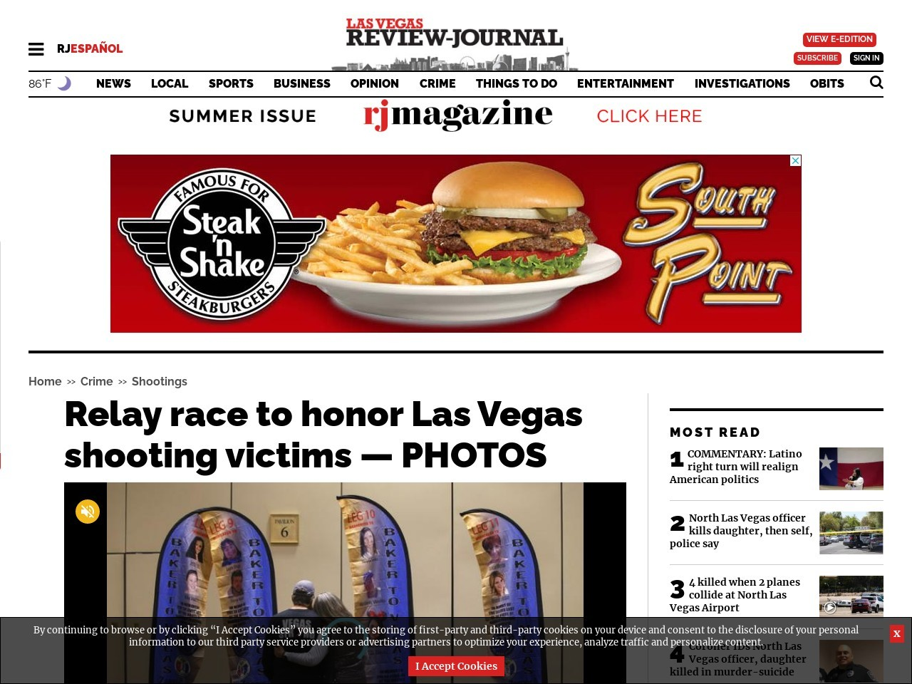 Relay race to honor Las Vegas shooting victims — PHOTOS