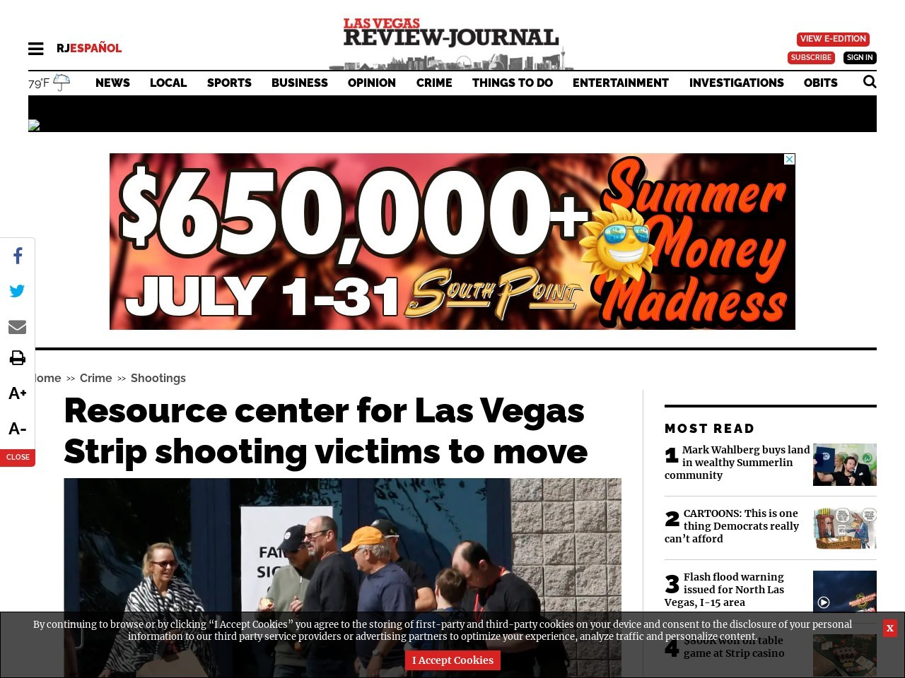 Resource center for Las Vegas Strip shooting victims to move