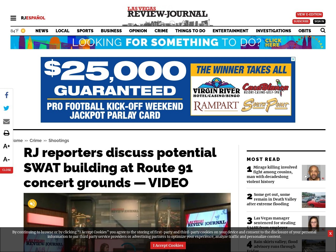 RJ reporters discuss potential SWAT building at Route 91 concert grounds — VIDEO