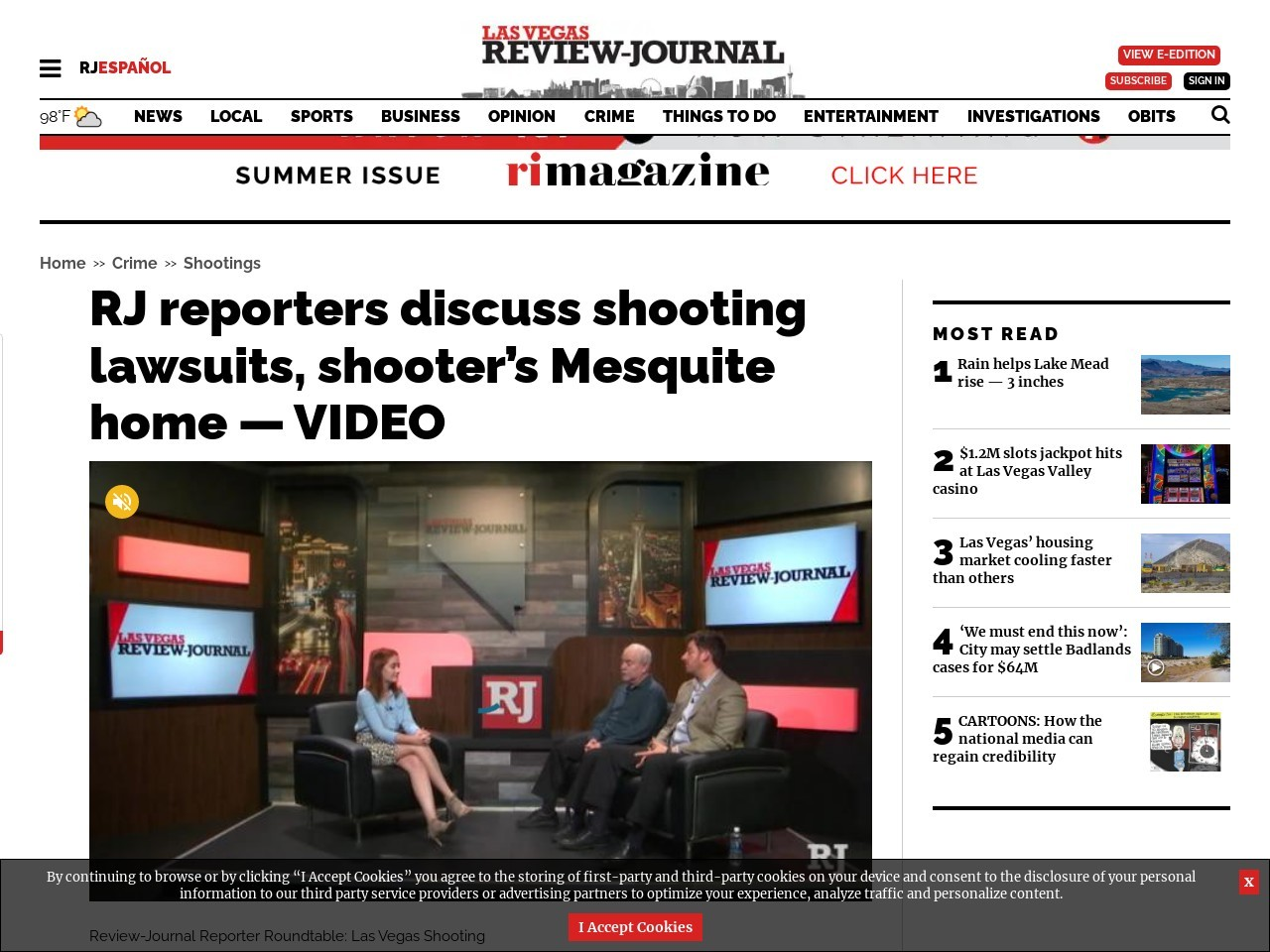 RJ reporters discuss shooting lawsuits, shooter's Mesquite home — VIDEO