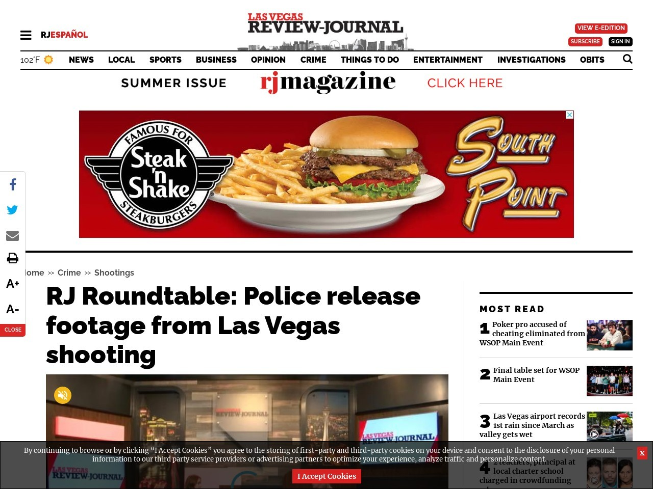 RJ Roundtable: Police release footage from Las Vegas shooting