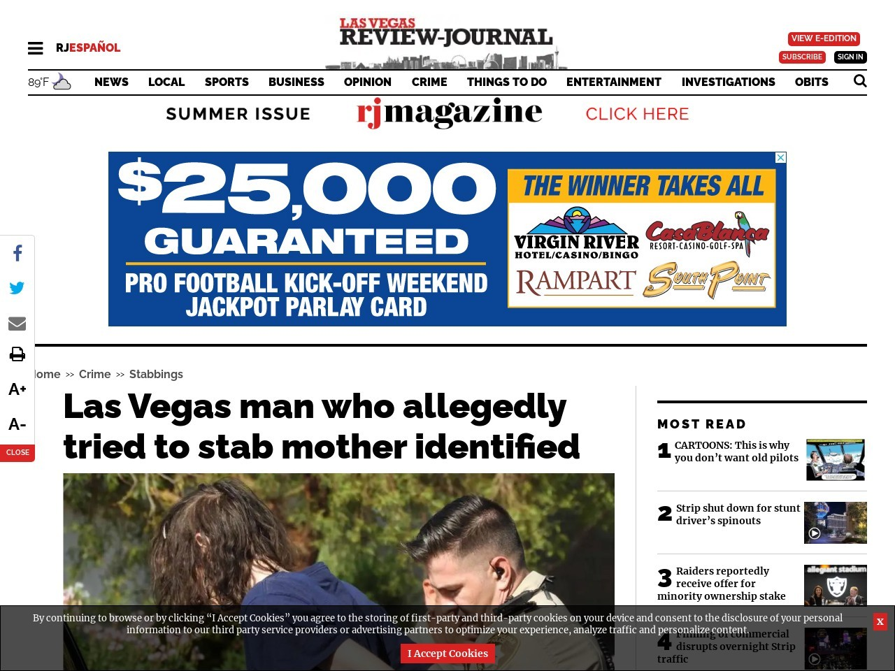 Las Vegas man who allegedly tried to stab mother identified
