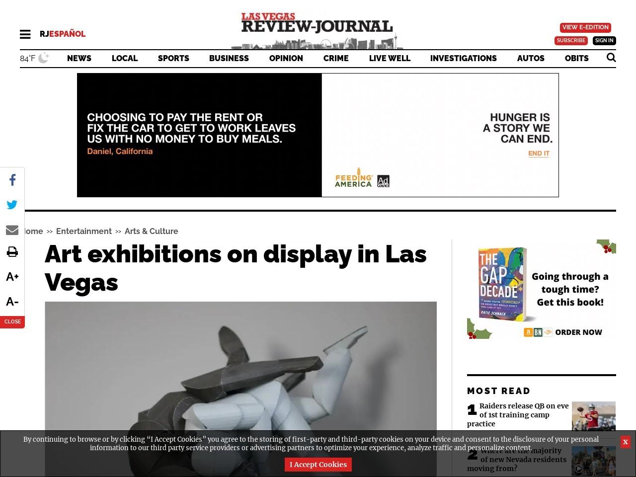 Art exhibitions on display in Las Vegas