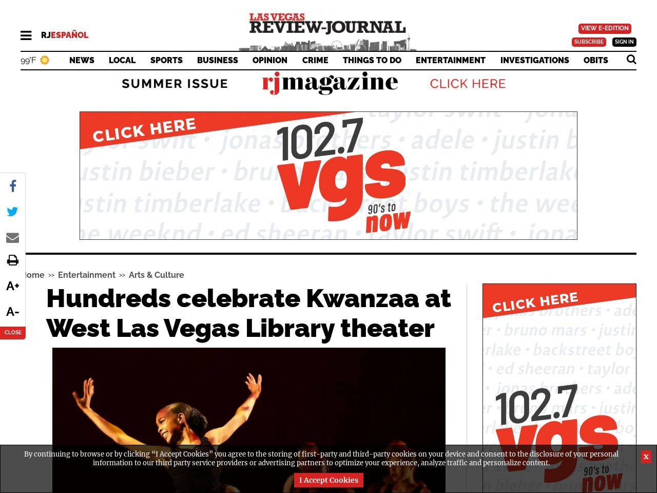 Hundreds celebrate Kwanzaa at West Las Vegas Library theater