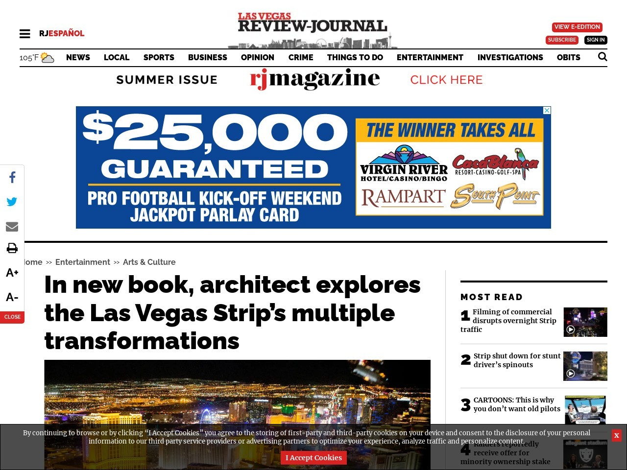 In new book, architect explores the Las Vegas Strip's multiple transformations