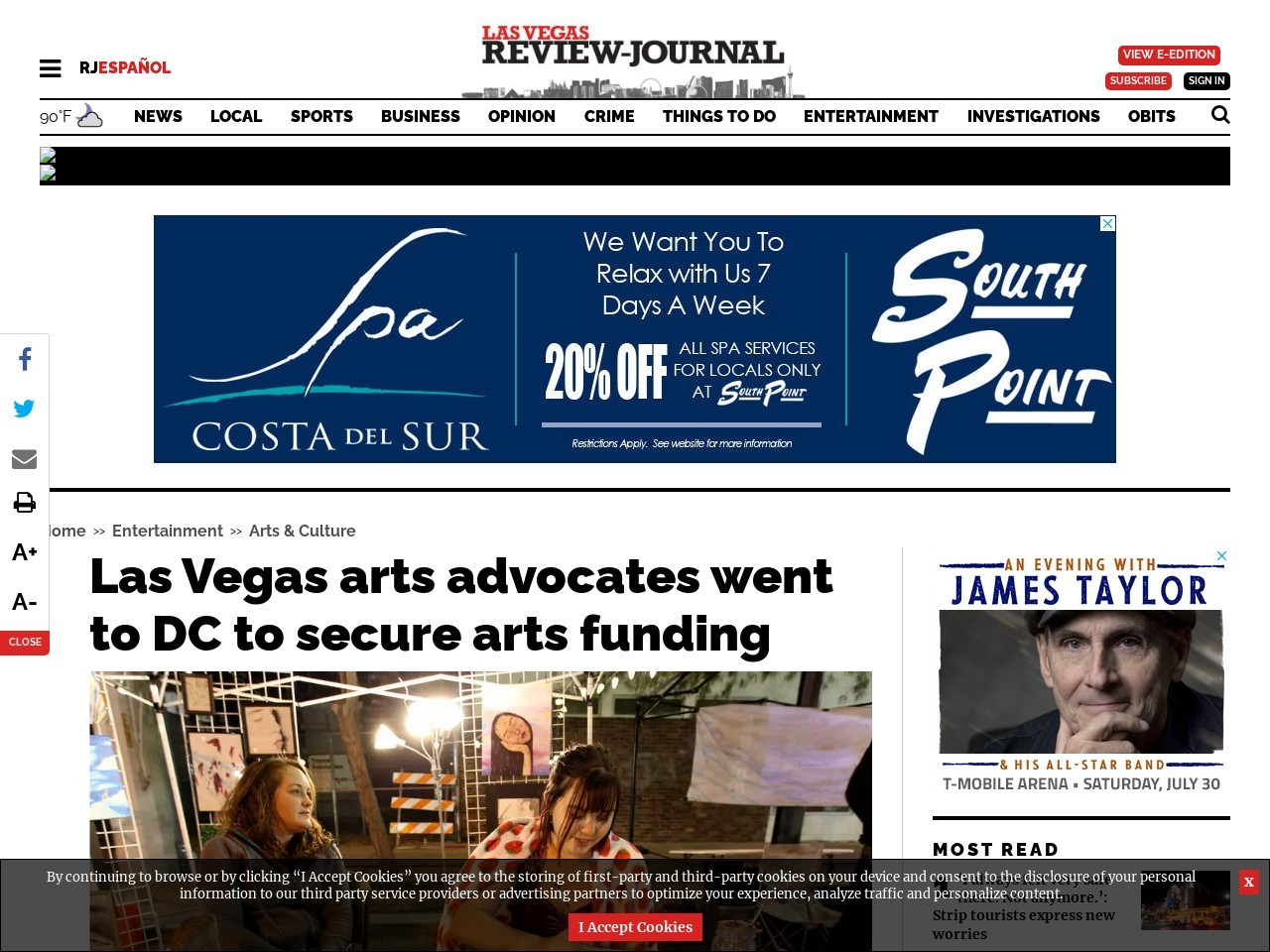 Las Vegas arts advocates went to DC to secure arts funding