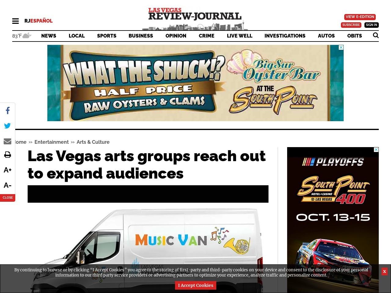 Las Vegas arts groups reach out to expand audiences