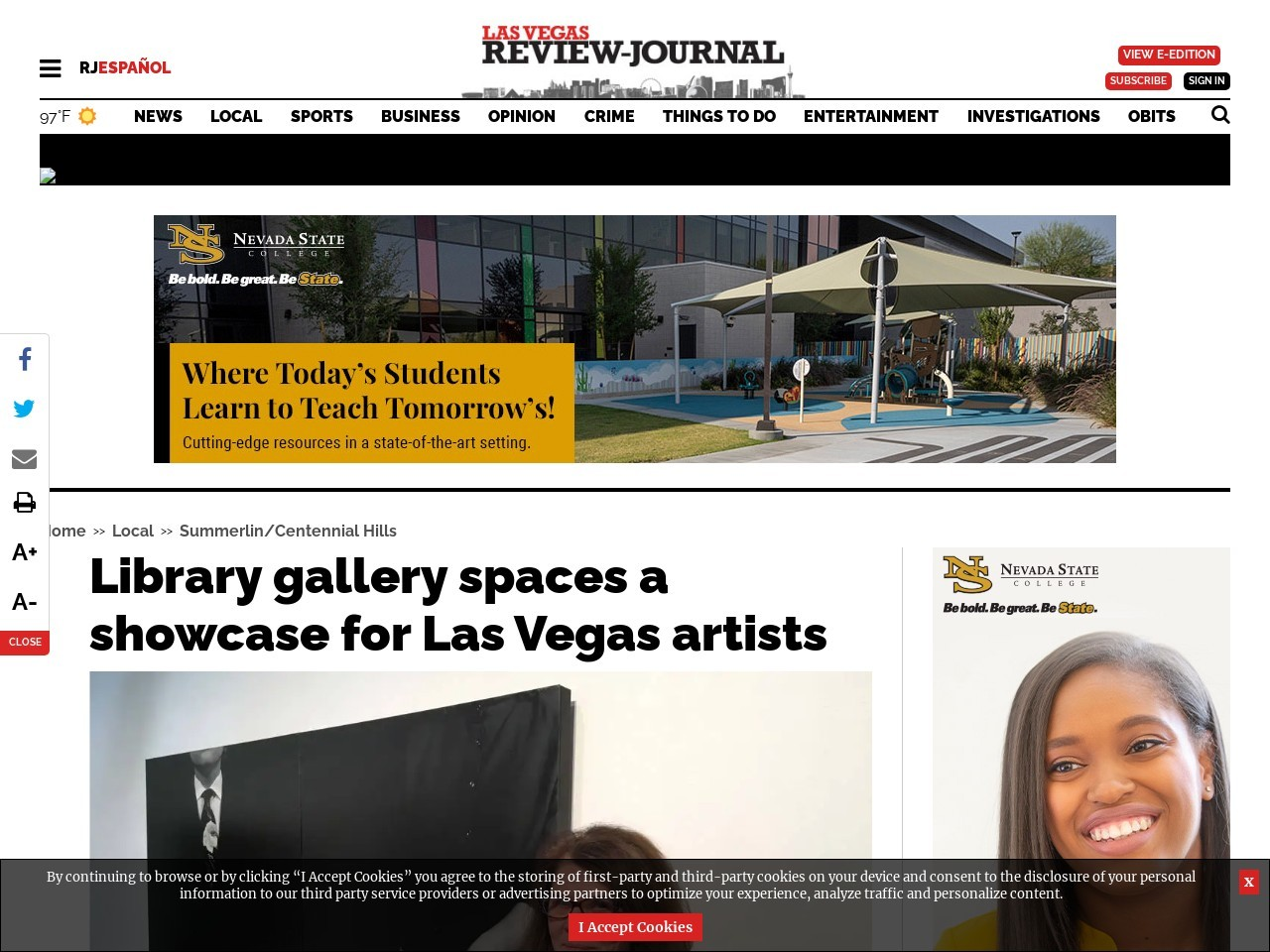 Library gallery spaces a showcase for Las Vegas artists