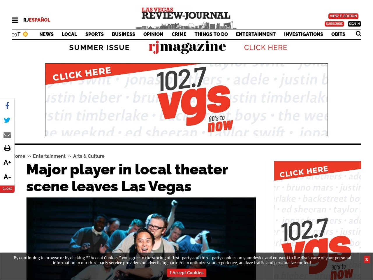 Major player in local theater scene leaves Las Vegas