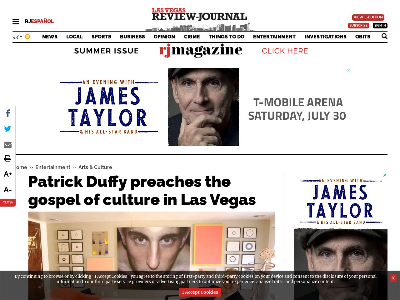 Patrick Duffy preaches the gospel of culture in Las Vegas