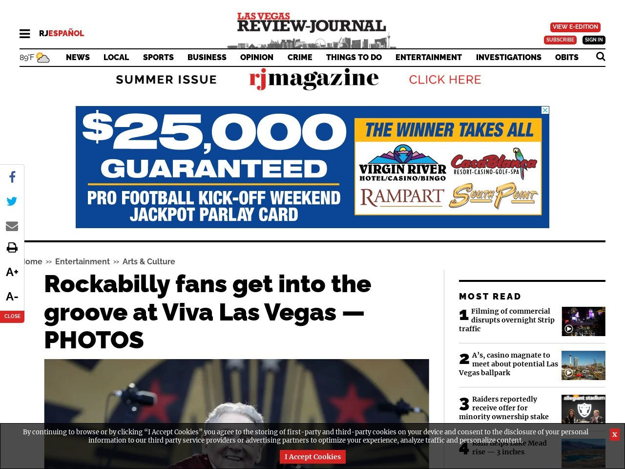 Rockabilly fans get into the groove at Viva Las Vegas — PHOTOS