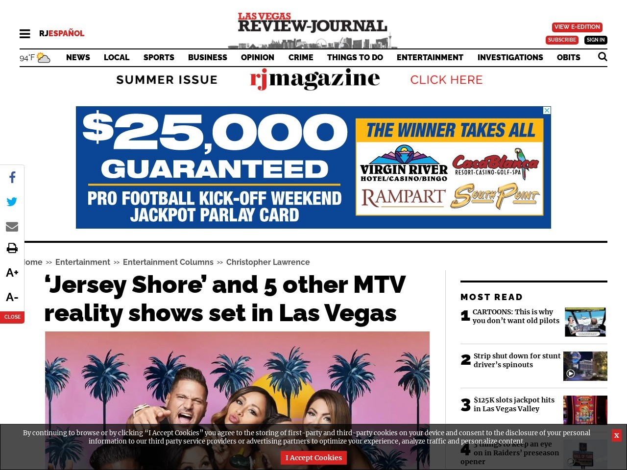 'Jersey Shore' and 5 other MTV reality shows set in Las Vegas