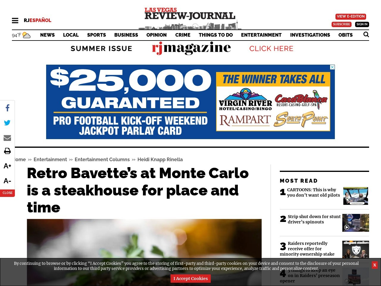 Retro Bavette's at Monte Carlo is a steakhouse for place and time