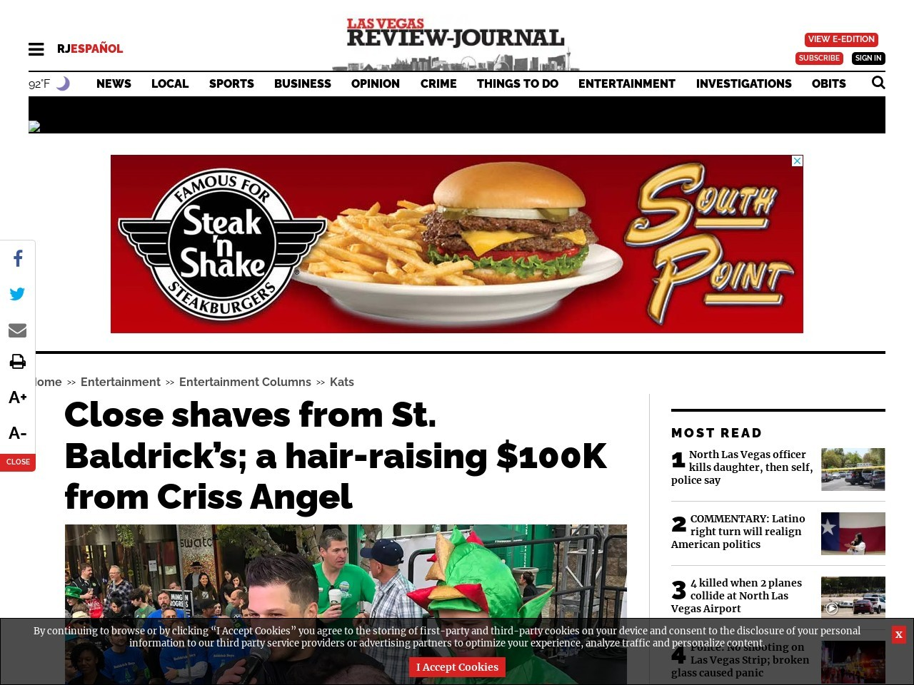 Close shaves from St. Baldrick's; a hair-raising $100K from Criss Angel