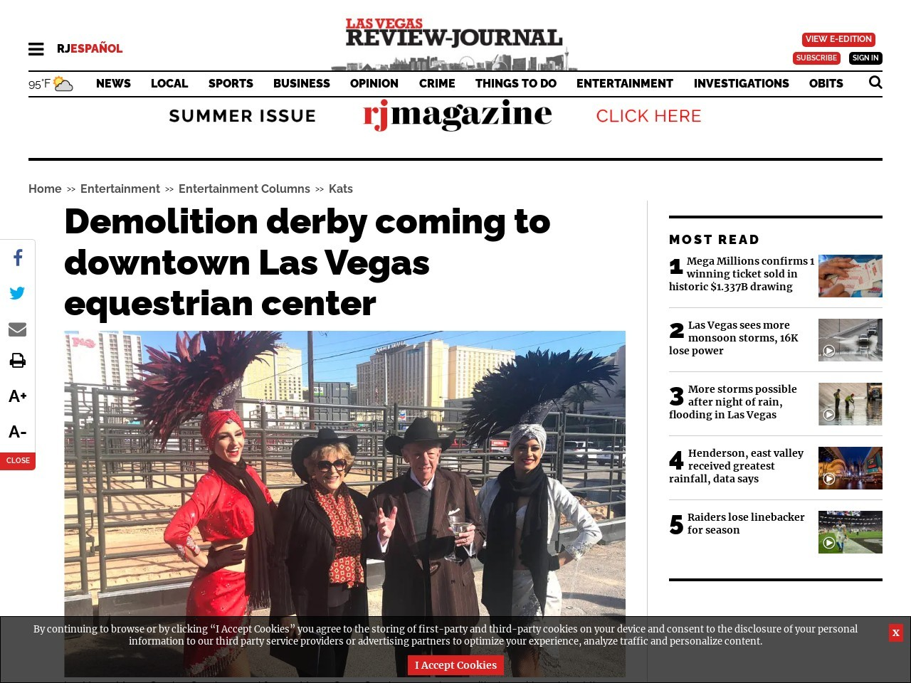 Demolition derby coming to downtown Las Vegas equestrian center