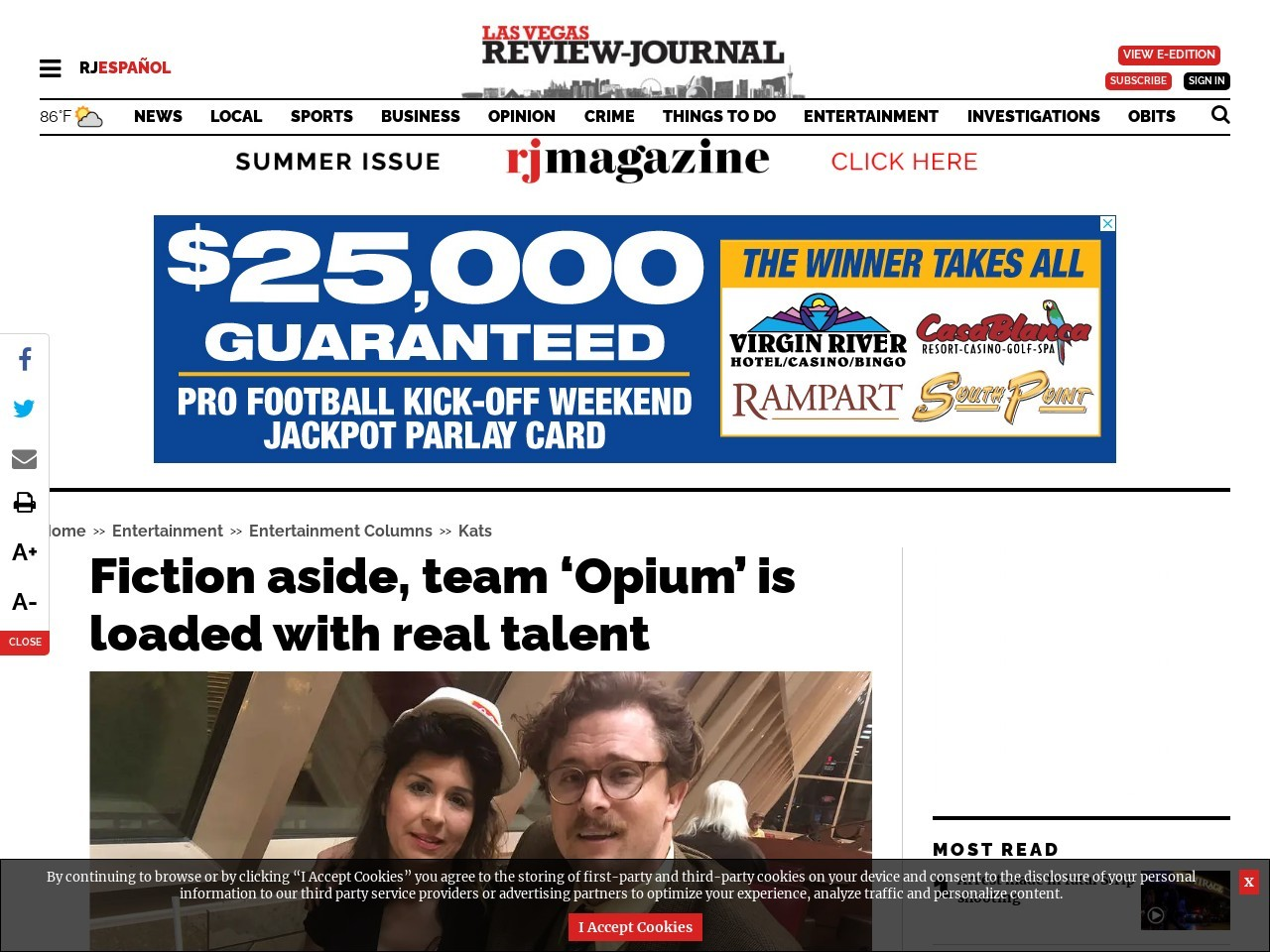 Fiction aside, team 'Opium' is loaded with real talent