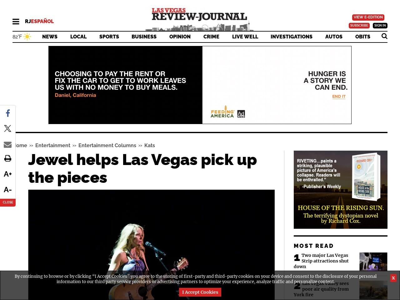 Jewel helps Las Vegas pick up the pieces