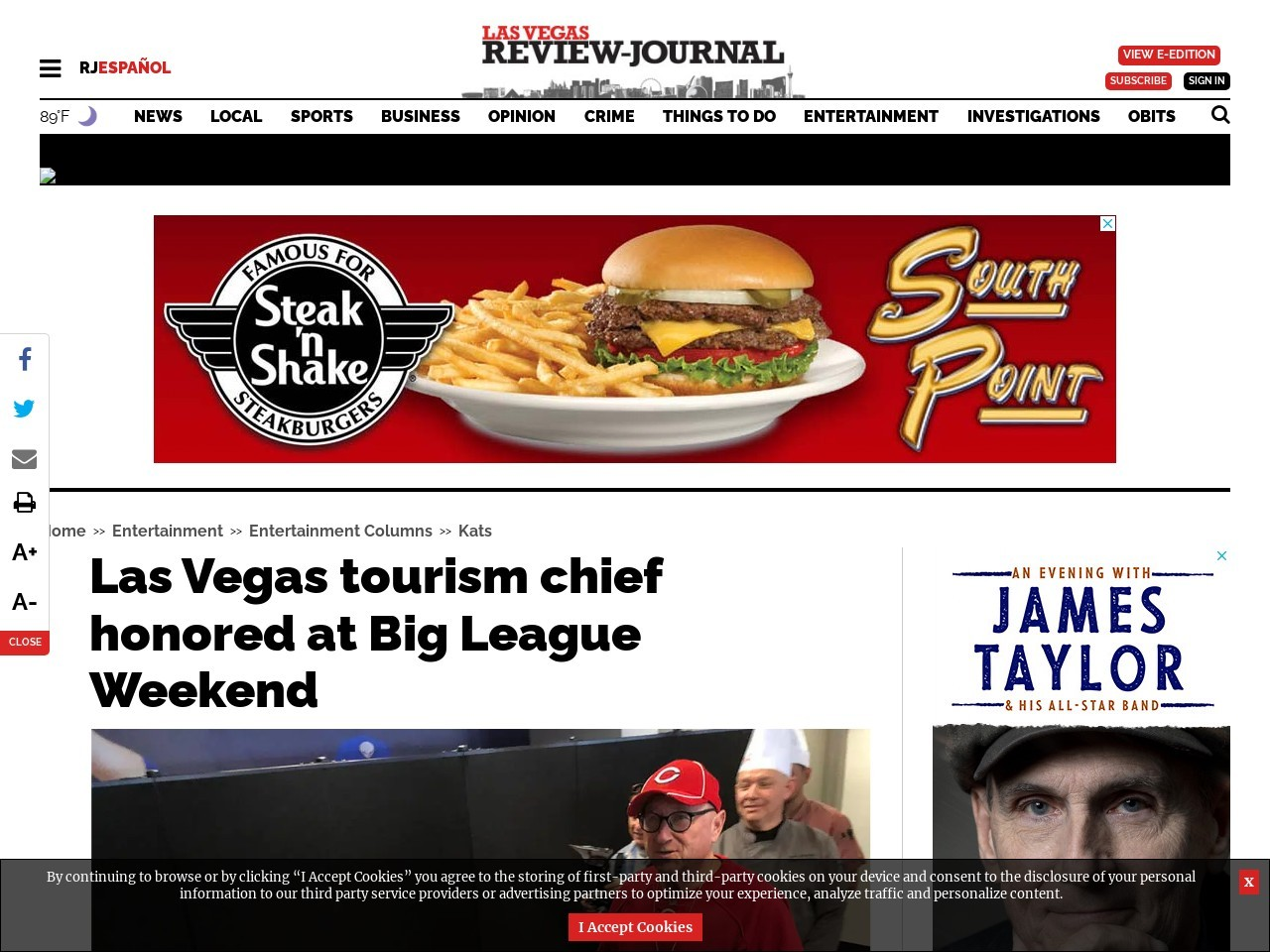 Las Vegas tourism chief honored at Big League Weekend