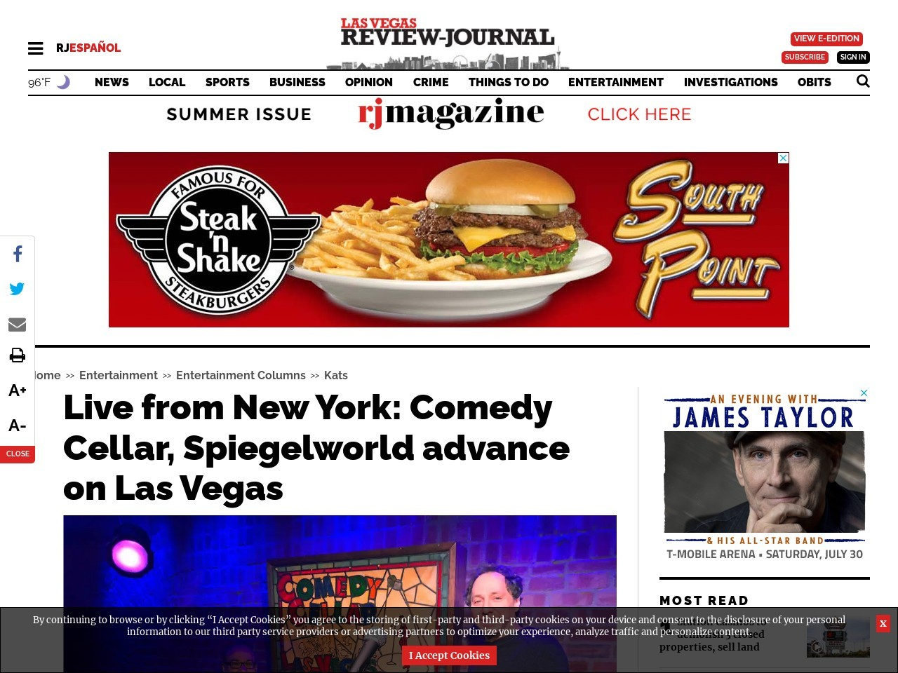Live from New York: Comedy Cellar, Spiegelworld advance on Las Vegas