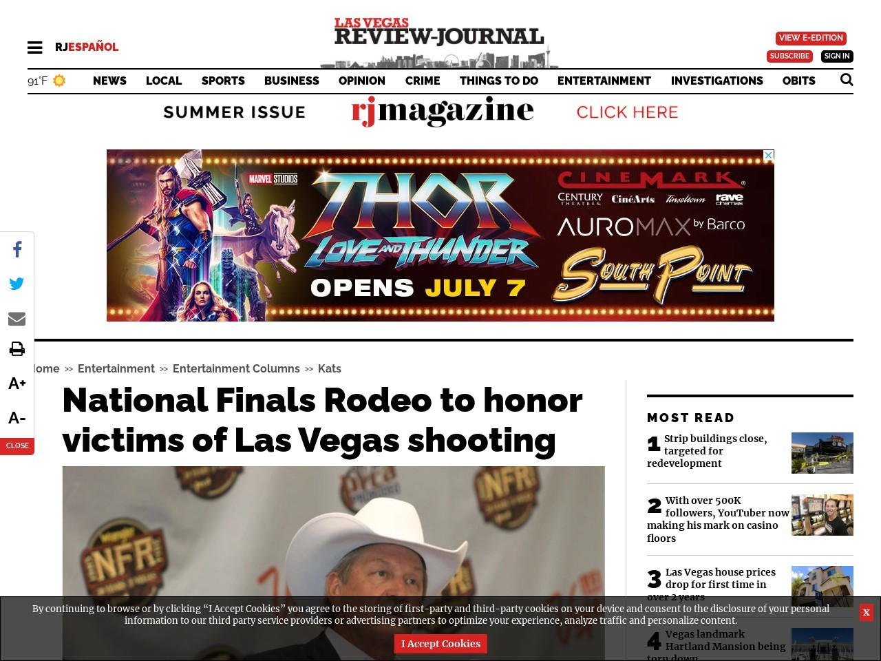 National Finals Rodeo to honor victims of Las Vegas shooting