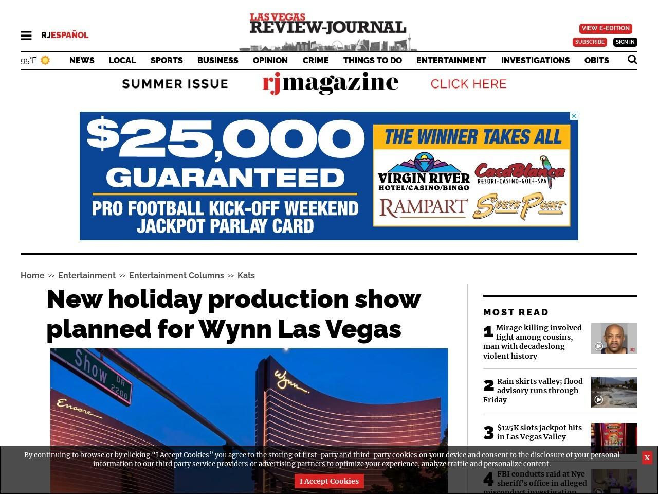 New holiday production show planned for Wynn Las Vegas
