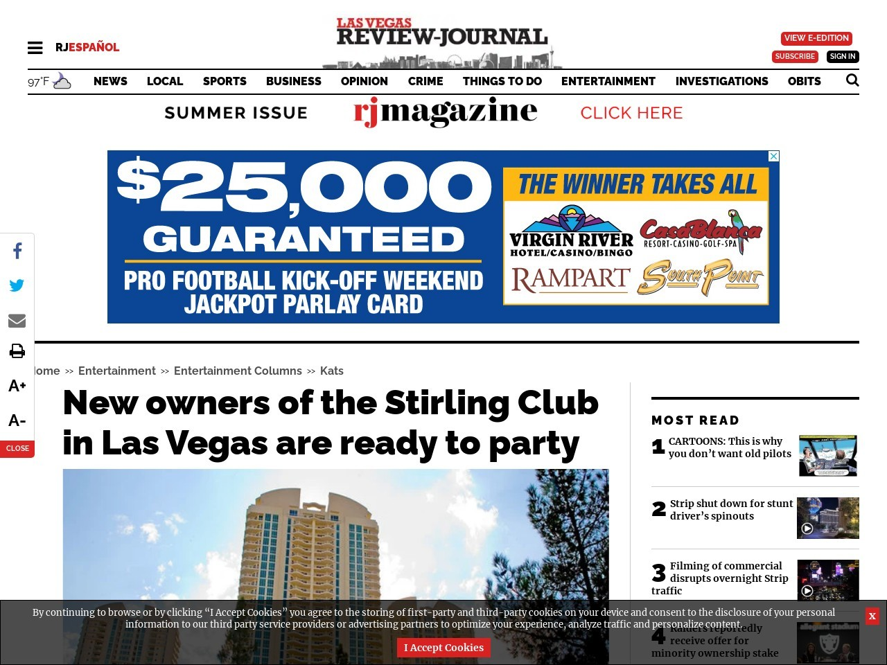 New owners of the Stirling Club in Las Vegas are ready to party