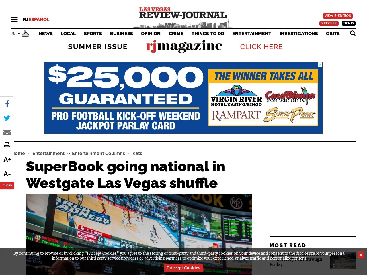 SuperBook going national in Westgate Las Vegas shuffle