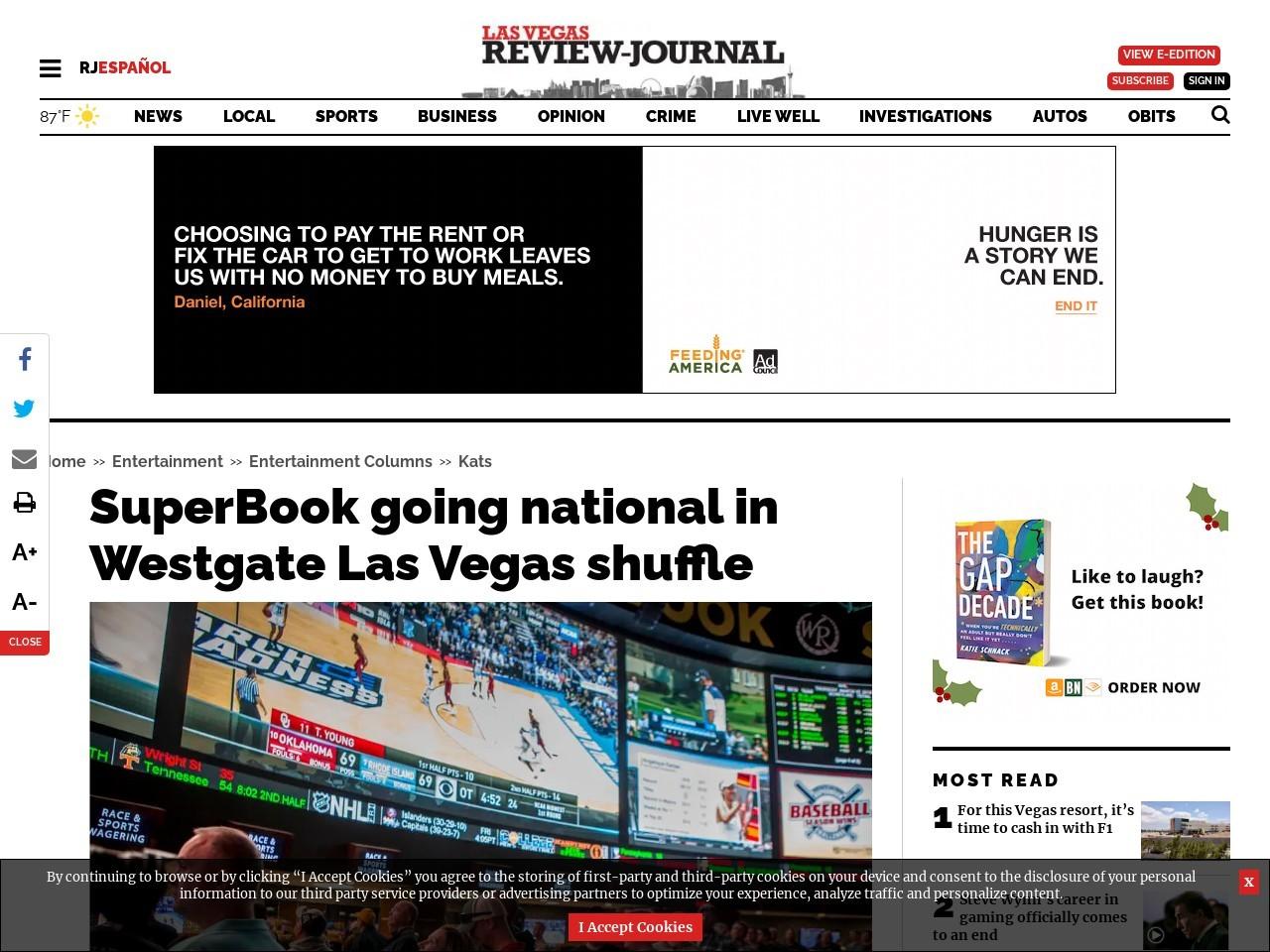 SuperBook going national in Westgate Las Vegas shuffle