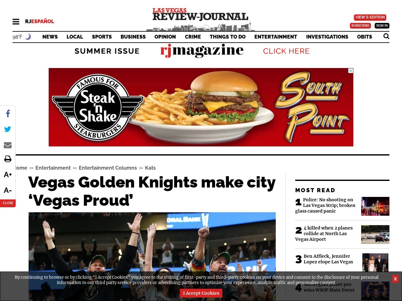 Vegas Golden Knights make city Vegas Proud