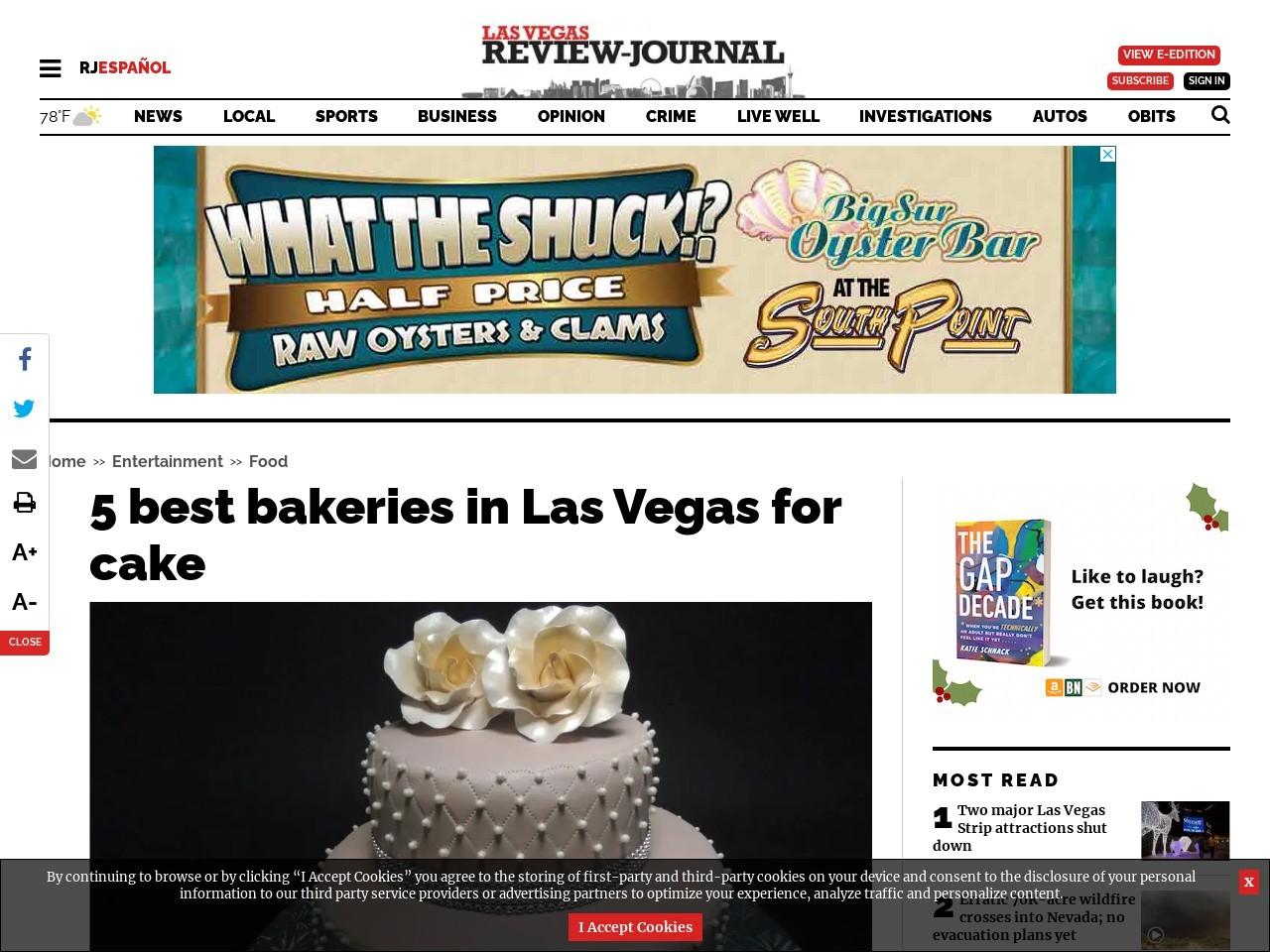 5 best bakeries to get a cake in Las Vegas