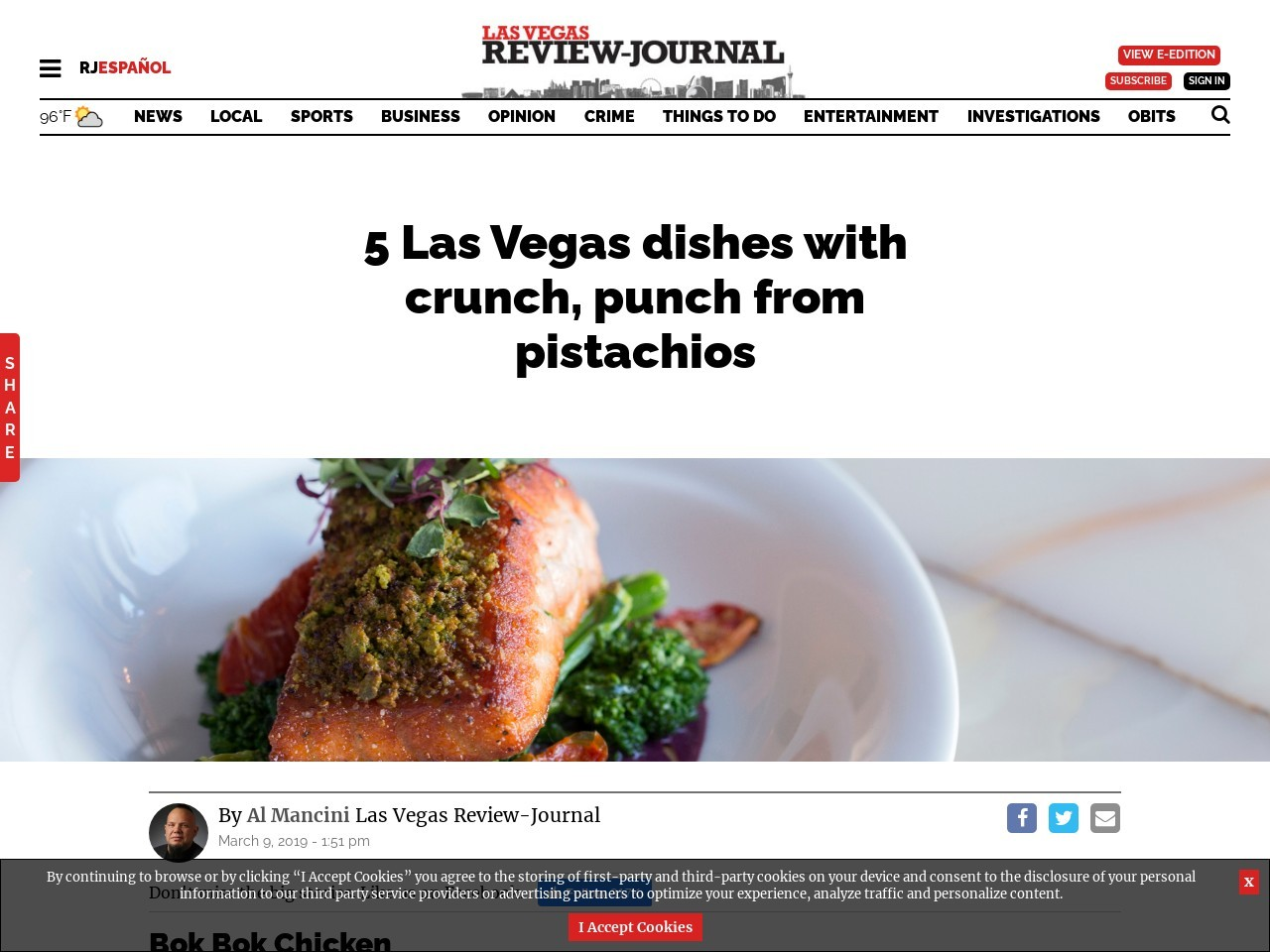 5 Las Vegas dishes with crunch, punch from pistachios