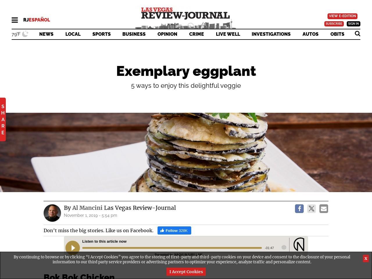 5 places in Las Vegas to get elegant eggplant
