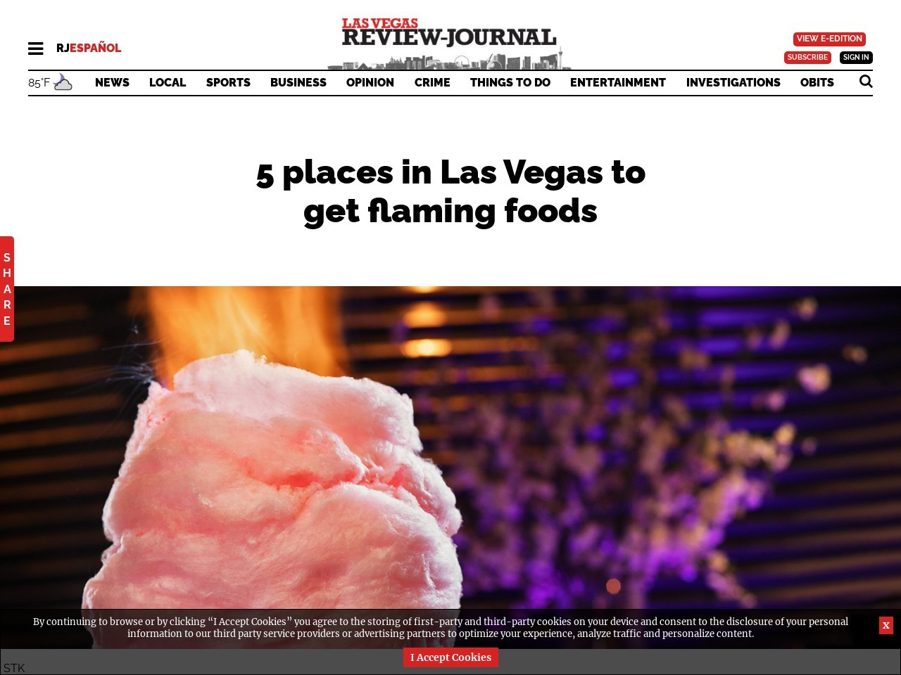 5 places in Las Vegas to get flaming foods