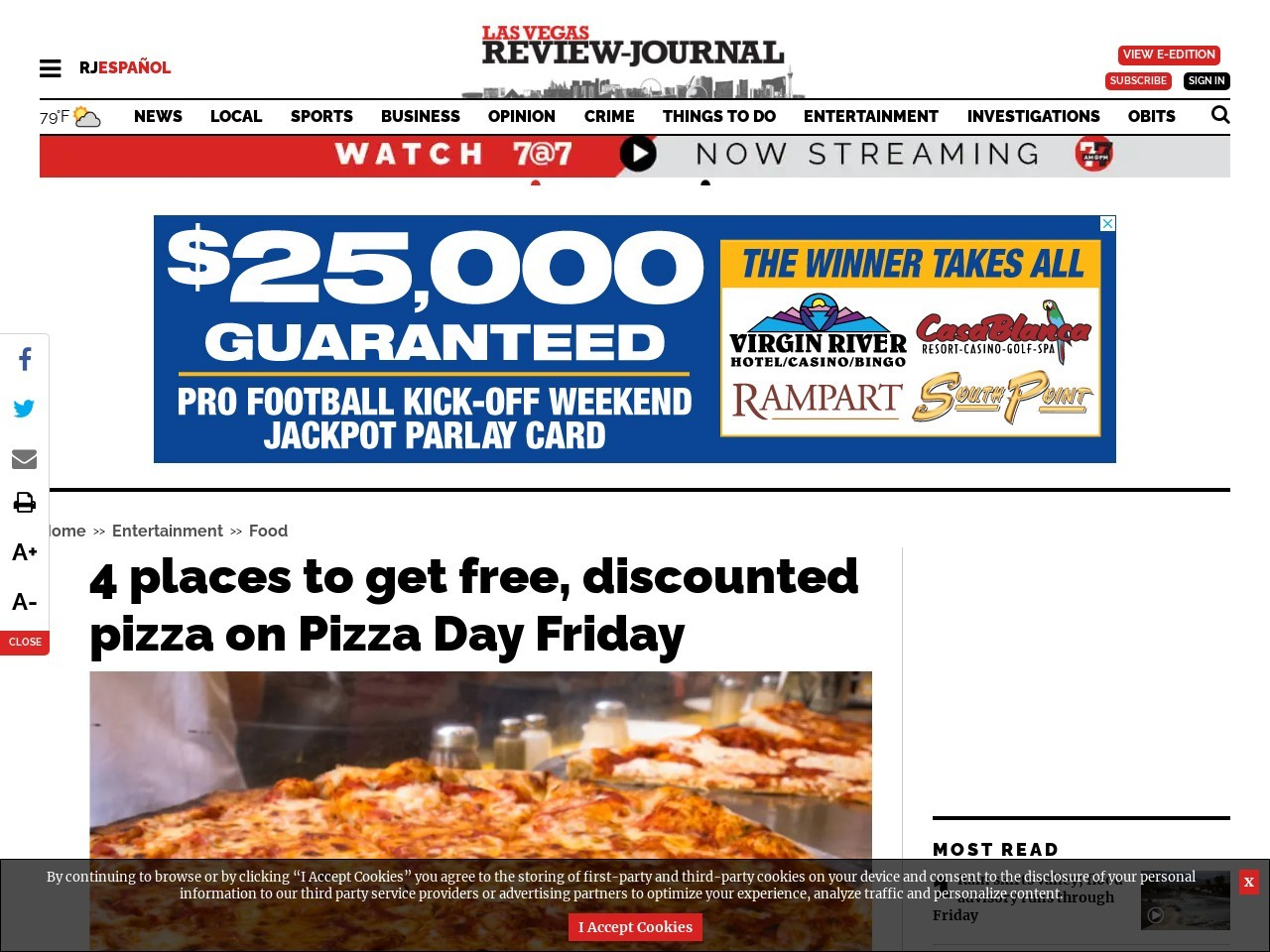 4 places to get free, discounted pizza on Pizza Day Friday