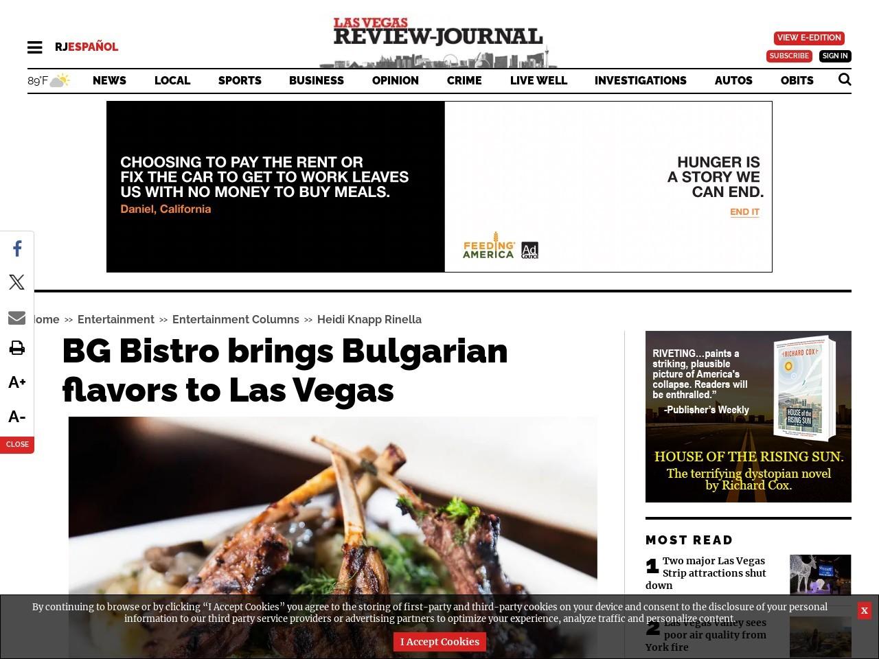BG Bistro brings Bulgarian flavors to Las Vegas