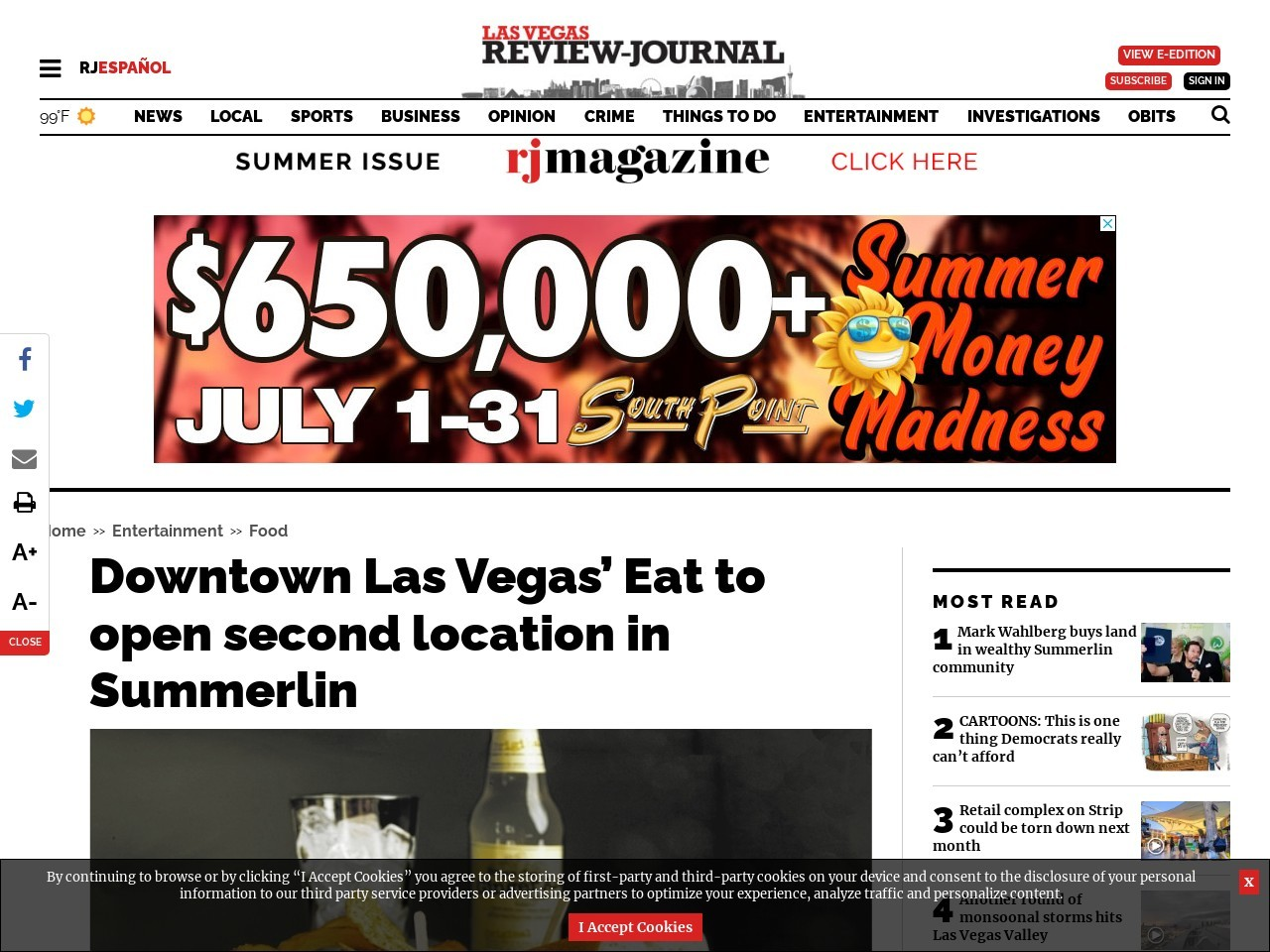 Downtown Las Vegas' Eat to open second location in Summerlin