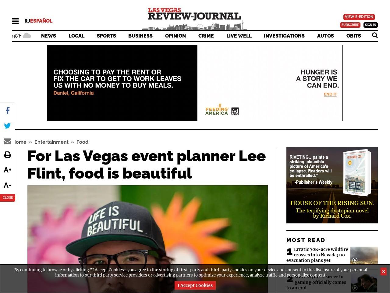 For Las Vegas event planner Lee Flint, food is beautiful