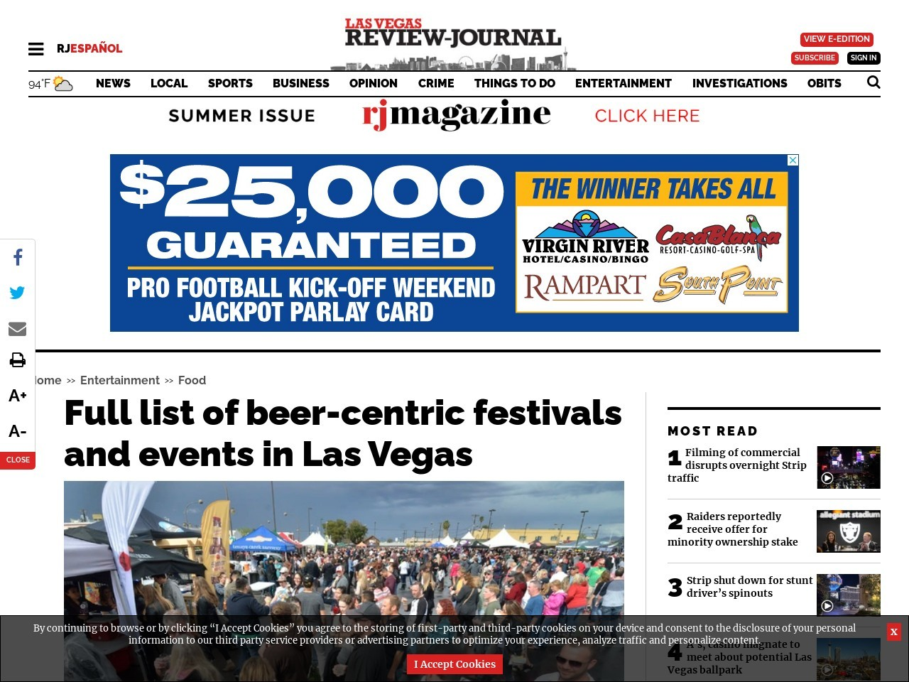 Full list of beer-centric festivals and events in Las Vegas