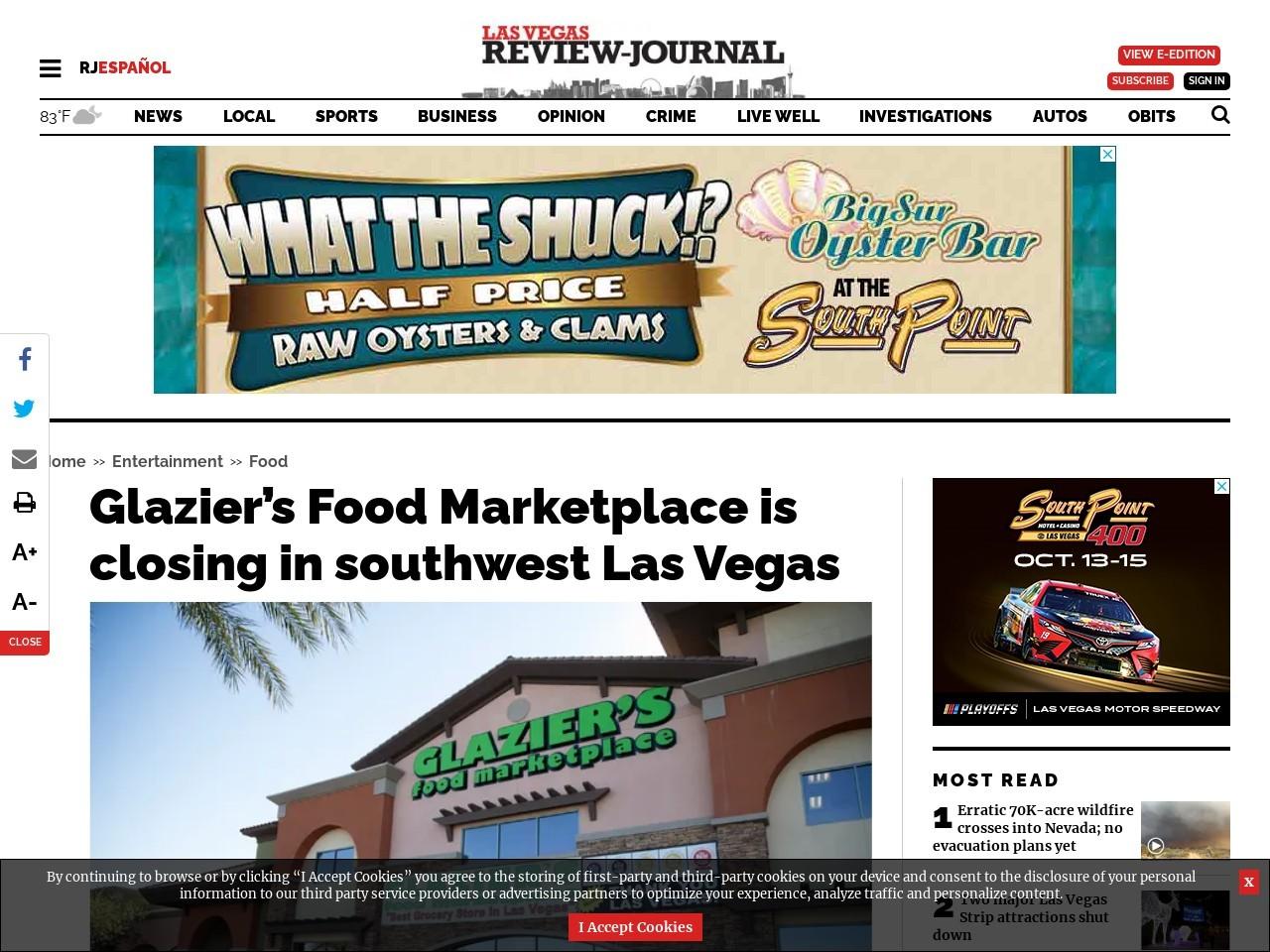 Glazier's Food Marketplace is closing in southwest Las Vegas