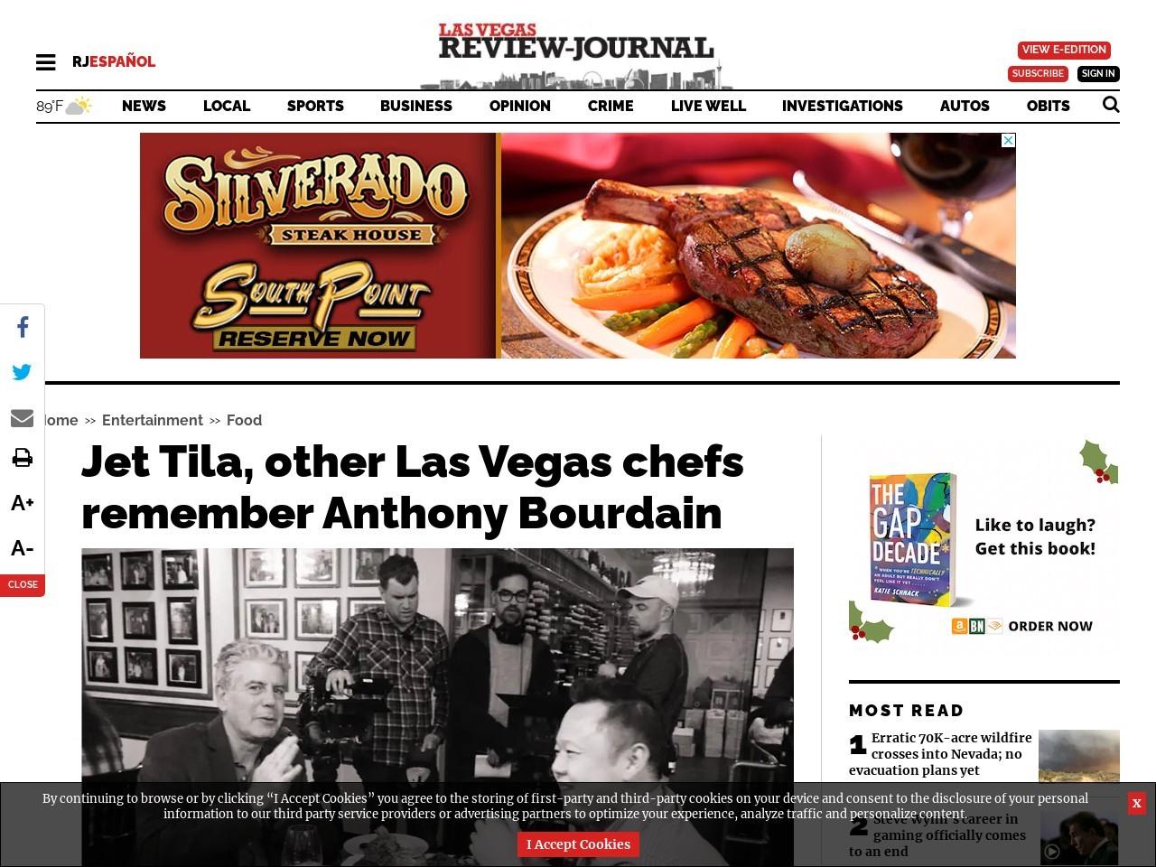 Jet Tila, other Las Vegas chefs remember Anthony Bourdain