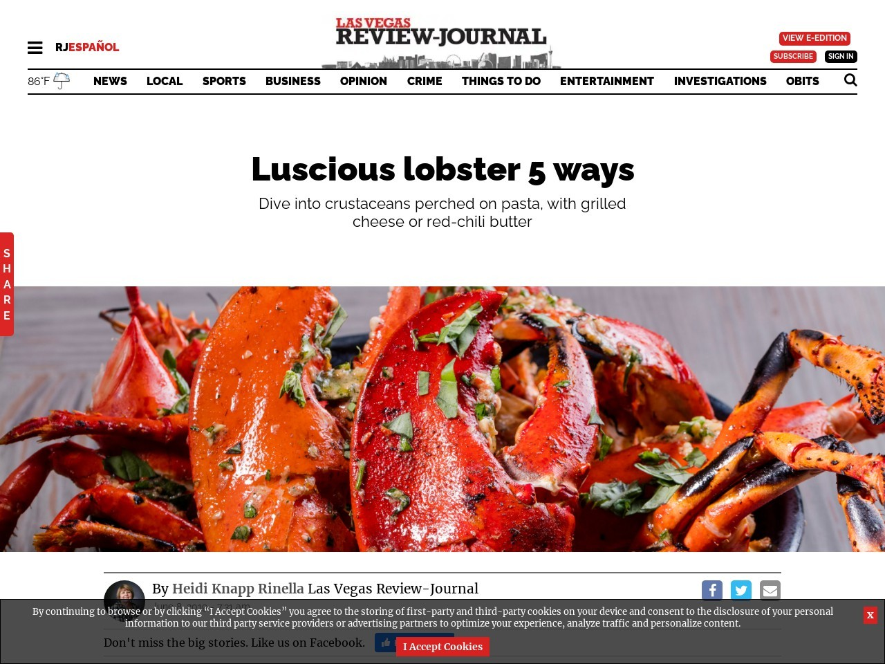 Local restaurants give lobster dishes some innovative twists
