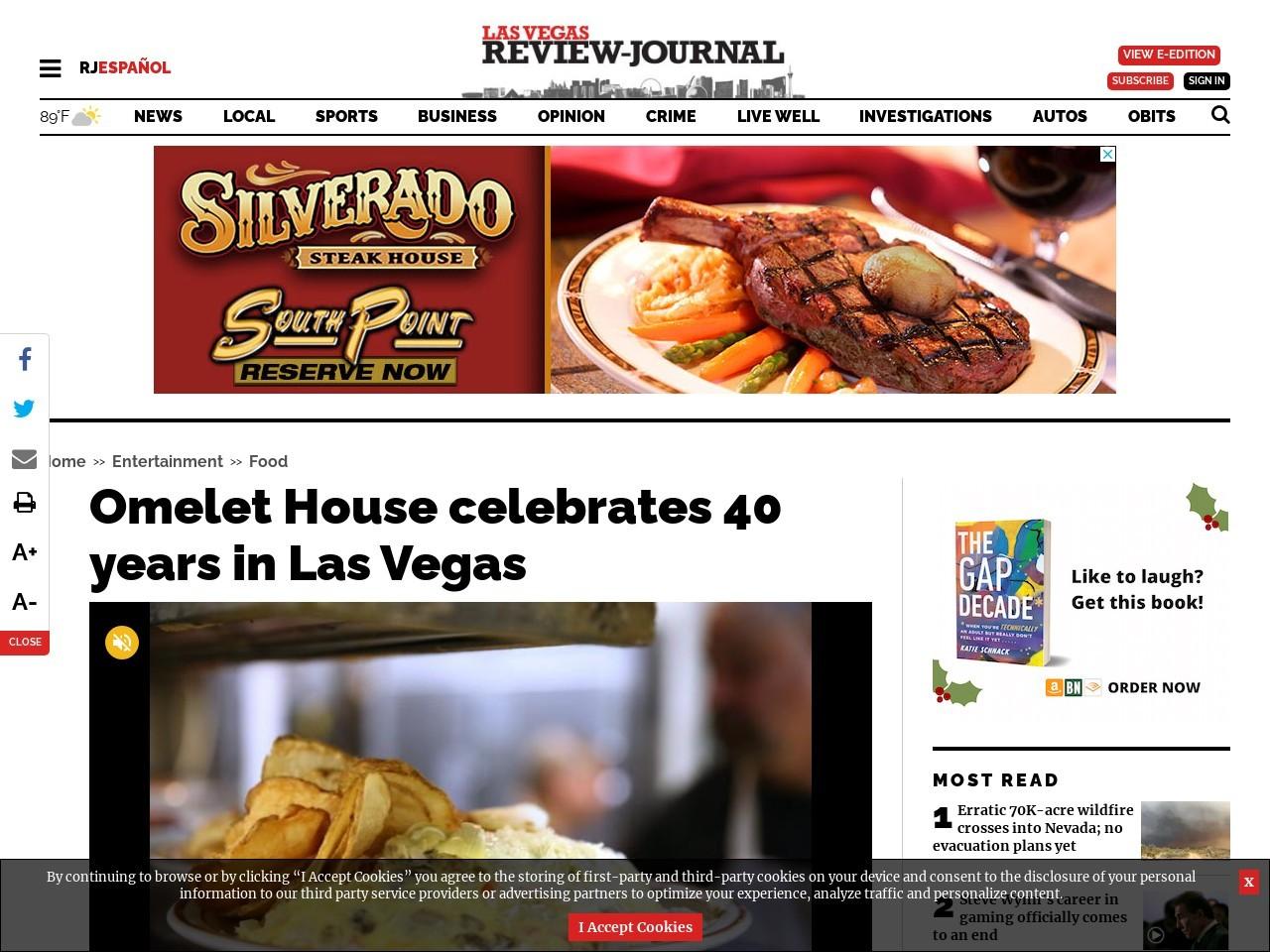 Omelet House celebrates 40 years in Las Vegas