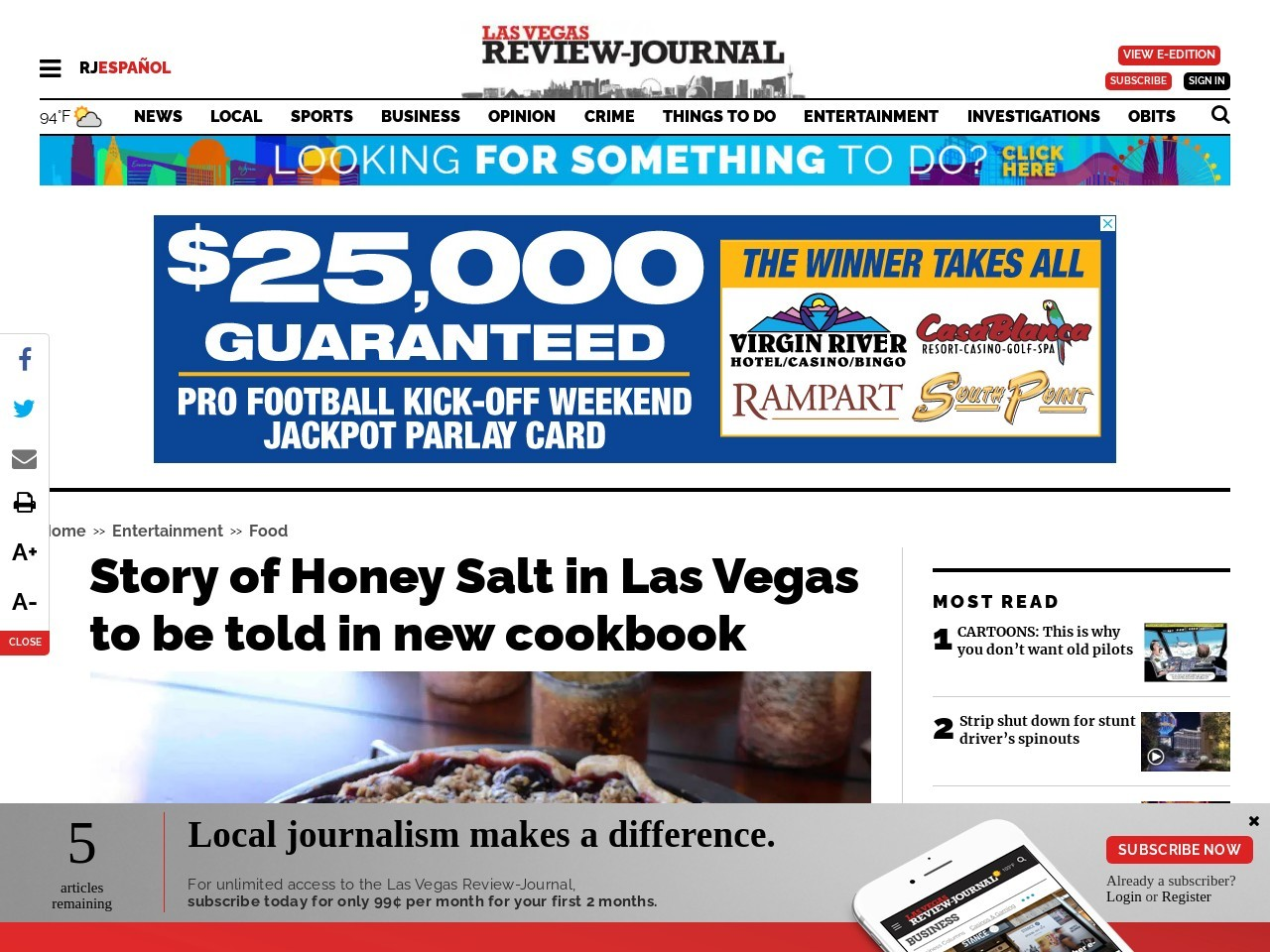 Story of Honey Salt in Las Vegas to be told in new cookbook