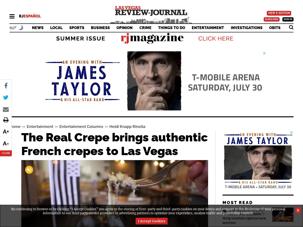 The Real Crepe brings authentic French crepes to Las Vegas