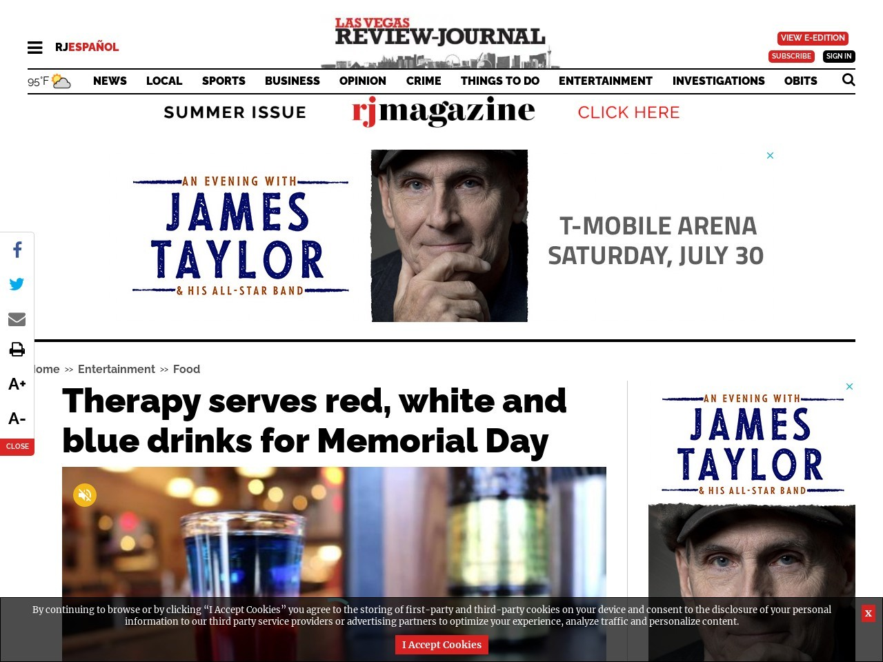 Therapy serves red, white and blue drinks for Memorial Day